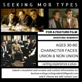 Seeking Mob guys for feature film